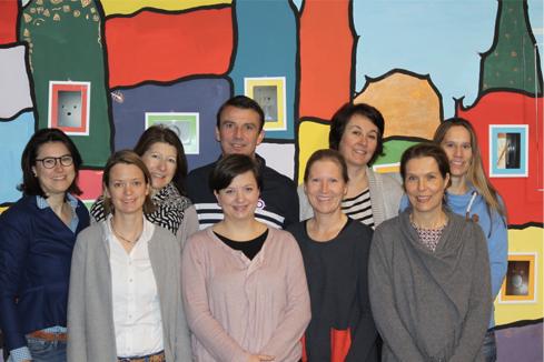 v.l. Claudia Schädler, Birgit Müller-Bungeroth (Schriftführerin), Sabine Schneggenburger, Ralph Altmeier (1. Vorsitzender), Jasmin Janovic (Kassenwartin), Andrea Enzenhöfer, Michaela Gering, Michaela Heupel (2. Vorsitzende), Barbara Fischer-Vlaskalin.
